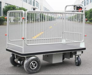 Electric Platform Cart with Shelf (HG-1050)