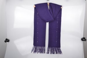 Softness Cashmere Scarf for Lady with Tassel pictures & photos