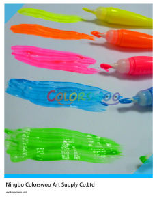 5*14ml Neon Tempera Paint with Brush for Students and Kids pictures & photos