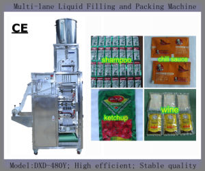 Tomato Paste Packaging Machine for Mcdonald′s (PLC control; 4 sides sealing) pictures & photos
