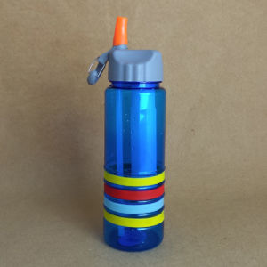 Plastic Water Bottle, PC Bottle with Straw pictures & photos