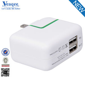 2.1A Dual USB Wall Travel Charger with Certification