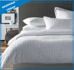3 Pieces Pure White Ultrasonic Bedspread Quilt pictures & photos