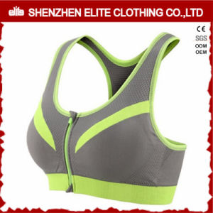 Wholesale Cheap Quick Dry Mesh Sports Bra Zip in Front pictures & photos