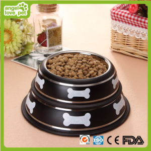 Lovely Stainless Steel Pet Feeder Bowl (HN-PB900) pictures & photos