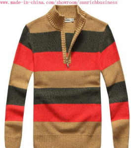 Men′s Knitted Long Sleeve Sweater (MY028) pictures & photos
