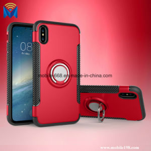 Ring Cover with Magnet Car Holder Stand Case PC+TPU Back Cover for iPhone X