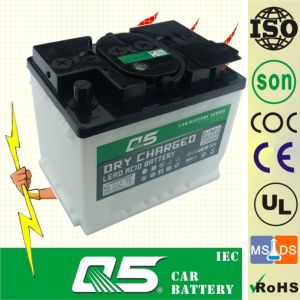 DIN55 12V55AH, Lead-Acid Dry Charged Car Battery pictures & photos