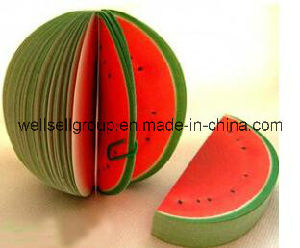 Fruit Shaped Pocket Memo/Office Sticky Note Pad (apple orange peach pear watermelon) pictures & photos