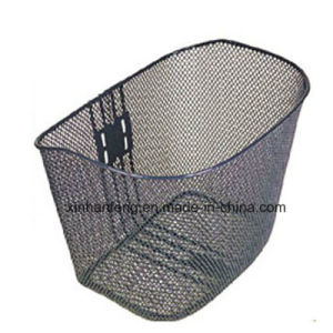 Steel Net Bicycle Basket with Steel Stay (HBK-124) pictures & photos