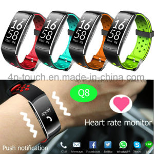 Waterproof Fitness Tracking Wristband Smart Bluetooth Bracelet Q8 pictures & photos