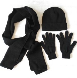 Winter Set Promotional Knitted Hat&Scarf&Gloves