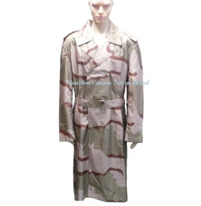 Waterproof Long Raincoat in Desert Camouflage pictures & photos