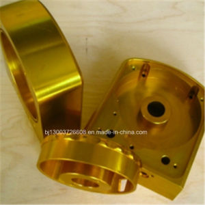 Yellow Anodized Custom Precision High End Cap CNC Machining Parts