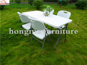 4ft Easy Folding Outdoor Plastic Table for Picnic, Camping and Party