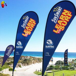 Polyester Teardrop Beach Advertising Banner pictures & photos