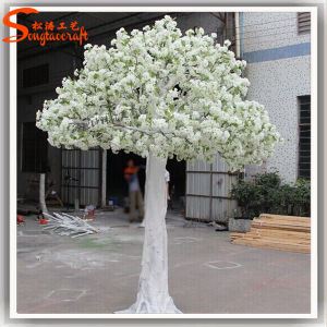 Hotel Decoration Artificial White Silk Cherry Blossom Trees pictures & photos