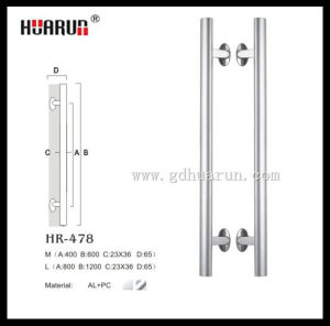 Made in China door handles stainless steel, door handle manufacturer, H shape stainless steel pull handle (HR-478) pictures & photos
