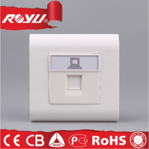 China 4core Rj11/RJ45 Tel Socket Computer Wall Socket - China RJ45 ...