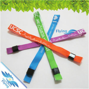 Festival Artificial Woven Wristbands Clasp Personalized Barcode Plastic Card Bands