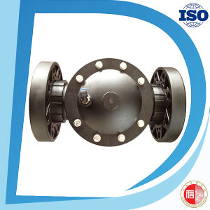 Plastic Nylon Material Universal Flange Connection Factory Price 2 Way Valve pictures & photos