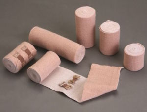 Skin Color Cotton High Compression Elastic Bandage with CE FDA ISO pictures & photos