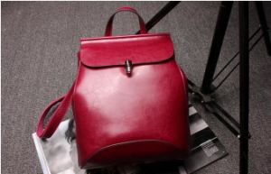 High Quality True Leather Women′s Backpack Bags
