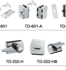 Bathroom Accessories Brass Glass Door Lock/ Td-202-H pictures & photos
