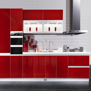 Zh High Glossy UV Kitchen Furniture (K-129) pictures & photos
