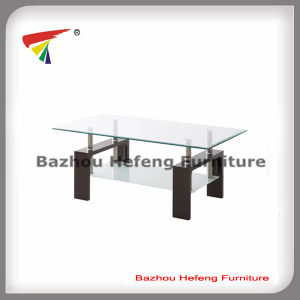 Modern Living Room High Glossy MDF Glass Coffee Table (CT067) pictures & photos