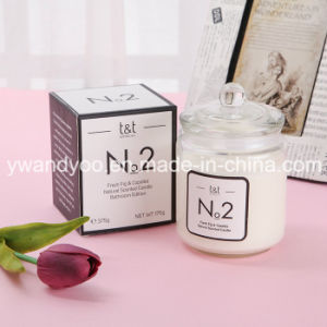 Scented Soy Romantic Candle in Clear Glass Jar with Lid