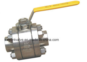 Forged Stainless Steel 3PC Threaded Ball Valve with Locking Device pictures & photos