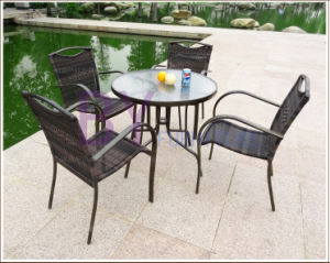 Leisure Style PE Rattan Outdoor Starbucks Garden Set Furniture