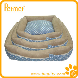 Rectangle Printed Dog Bed with Removable Cushion (PT13102)