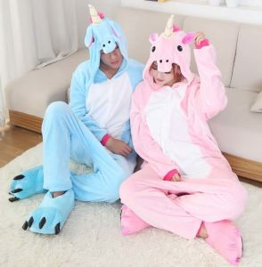 Unicorn Onesies Sleepwear Adult Animal Pajamas Costume