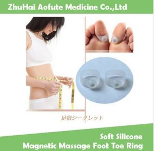 Soft Silicone Magnetic Massage Foot Toe Ring Keep Slimmming Ring pictures & photos