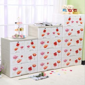 Fashion Flower Printing Plastic Drawer Storage Cabinet (FL-156-1)  sc 1 st  Yiwu Lovife Co. Ltd. & China Fashion Flower Printing Plastic Drawer Storage Cabinet (FL-156 ...