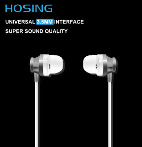 China Produced High Quality PVC Cable 3.5mm Plug Stereo White Earphone