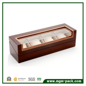Red Custom Luxury Packing Wooden Watch Box pictures & photos