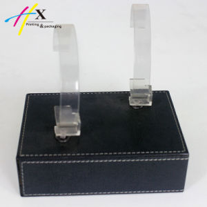 Luxury Fashion Acrylic Wooden Jewelry Watch Display with Metal C-Rings pictures & photos