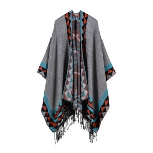 5d9062cd6 China Women′s Color Block Open Front Blanket Poncho Bohemian ...