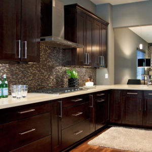Solid Wood Modern Style Kitchen Design Philippines pictures & photos