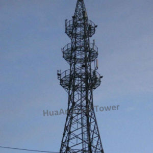 Self-Supporting Three Legged Steel Tubular Lattice GSM Tower