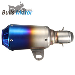 High Quality Custom Racing Car Stainless Steel Exhaust Muffler ATV Scooter  Motorcycle blue Black Titanium Color