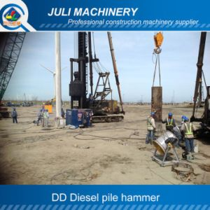 Ddseries Guide Rod Type Diesel Hammer. Oil Pile Hammer