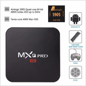 Orginal Rooted Mxq PRO Amlogic S905 Quad Core Andorid 5.1 TV Box 1GB/8GB 2.4GHz WiFi H. 265 Full HD Kodi Pre-Installed Android TV Box pictures & photos