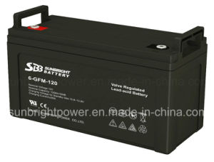 12V120ah Deep Cycle CE Approve Solar System VRLA Battery pictures & photos