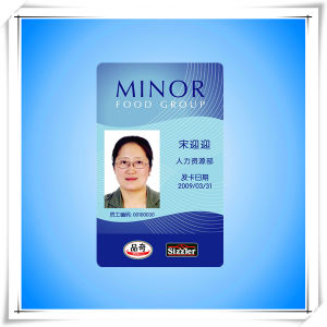 china plastic pvc company employee id card china id card employee