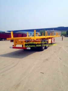 Two Axle/Three Axle 40ft Flat Bed Semi Trailer, Fence Cargo Semi Trailer for Sale