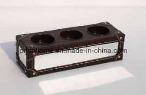 Leather Candle Holder (1020)